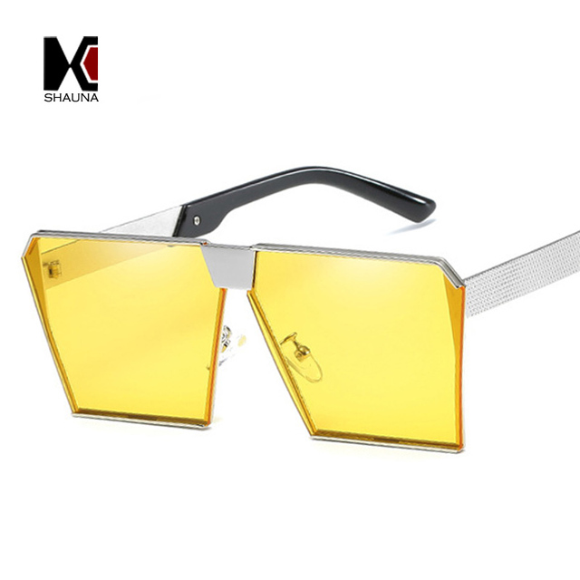 614cf85798 SHAUNA D'été Styles Classique Femmes Flat Top Carré Teinté lunettes de  Soleil Mode Hommes