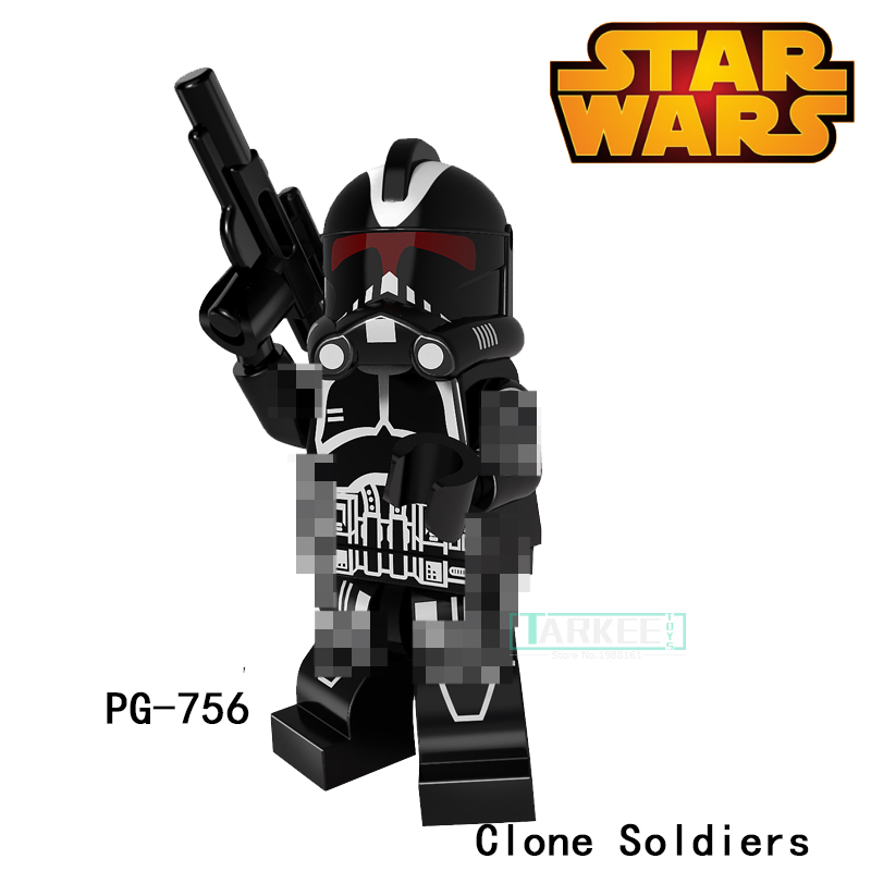 Building Blocks PG756 Black Clone Soldiers Stormtrooper Commander SuperHero Star Wars Bricks Dolls Kids DIY Toys Hobbies Figures