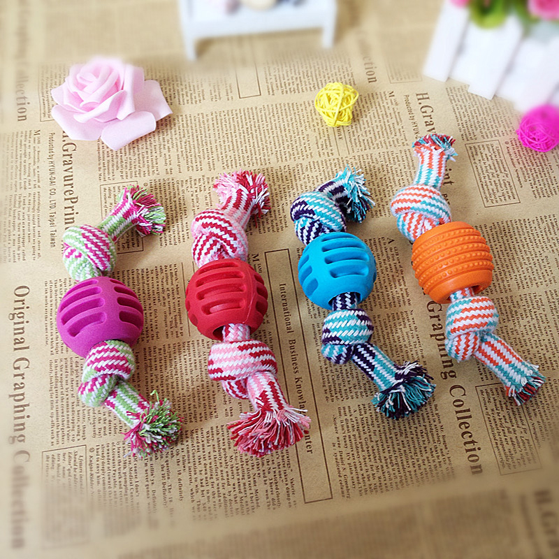 Pet Supplies Popular Toys For Dogs Cotton Rope Toy Ball Resistant Molar Toy For Dog Teeth Rope Can Eat To Clean The Stomach