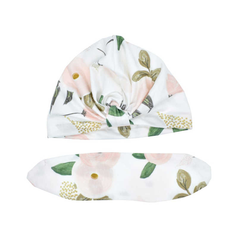 Heißer Verkauf Nette Drucken baby Hüte Thermische Kappen Für Infant Newborn Kid Unisex Stilvolle Mode Baumwolle Blume Gedruckt Kappe für kleinkinder