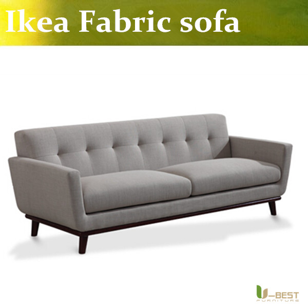 U BEST Dark Grey Fabric Living Room 3 Seater SofaEasy And Simple Couch Modular Sofas In Many Colors