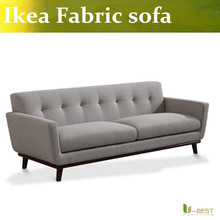 U-BEST dark grey fabric Living room 3 seater sofa,Easy and simple couch Modular fabric sofas in many colors