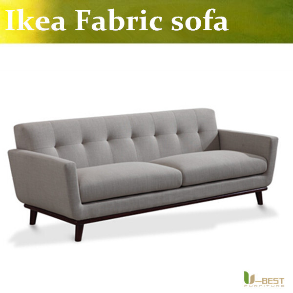 U-BEST dark grey fabric Living room 3 seater sofa,Easy and simple couch