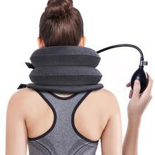 U Shape Inflatable Neck Cervical Vertebra Traction Device Neck Shoulder Pain Relax Massager Pillow R