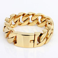 Gold Various Large Stainless Steel Bracelet for Men Biker Rocker Punk Bracelets Bangles Men's Link Wrist Mechanic Metal Jewelry