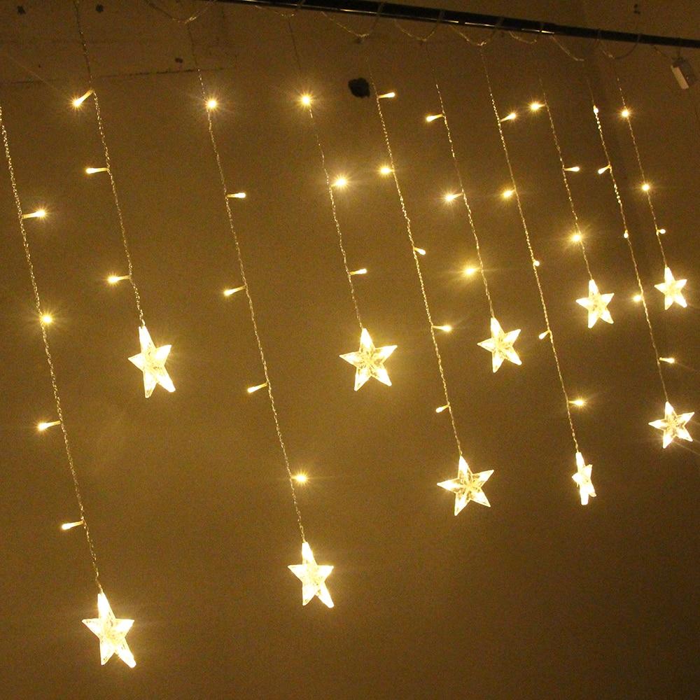 2m Led Christmas String Fairy Lights Star Outdoor Eu Plug