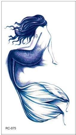 Waterproof Temporary Tattoo Sticker Mermaid  Tatto Stickers Flash Tatoo Fake Tattoos For Women Girl