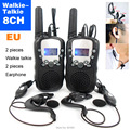 T-388 8 Channels Mini Walkie Talkie Travel Two Way Radio For Kid Children LCD Display Hf Transceiver Handheld Radio and Earphone