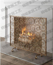 Frame, wrought iron floor mantel. Stove. The stove flameproof enclosure. The fire screen