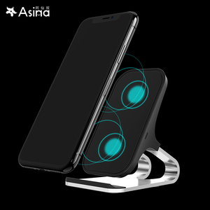 Image 2 - 10W Qi Wireless Charger For iPhone Xs Max Xr X for Samsung S10 S9 Intelligent Infrared Fast Wirless Charging Car Phone Holder