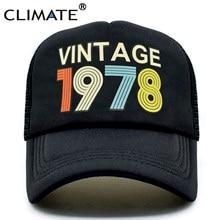 333c62b66 CLIMATE Vintage 1978 Trucker Cap Men Women Retro 40th Birthday Gift  Baseball Caps Black Cool Trucker Caps Hat For Men