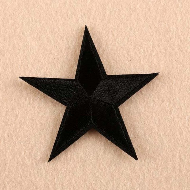 4c8615d8591e4 Iron on Red Blue White Star Shape Five-Pointed Star Pentagram Pentastar  Clothes Patch For Clothing Girls Boys