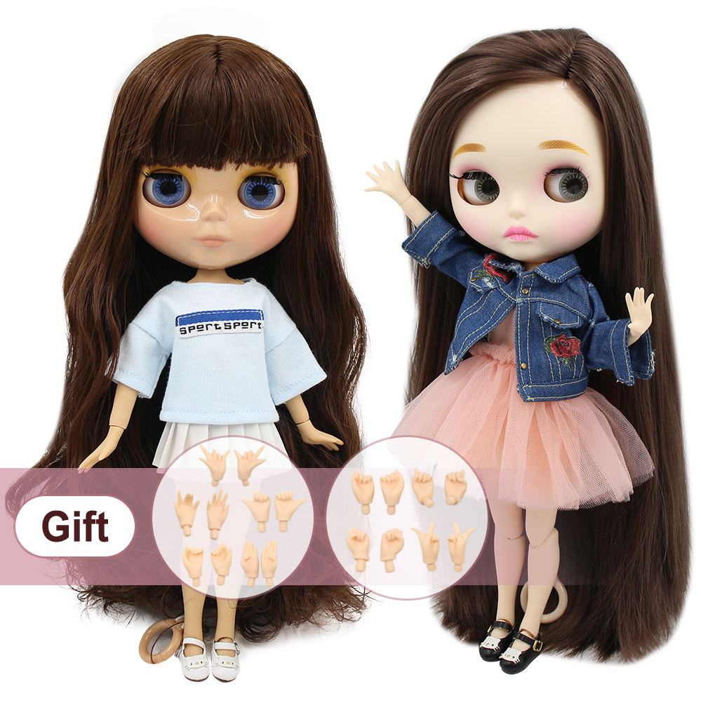 ICY factory blyth doll 1/6 BJD neo 30cm matte faceplate blyth custom joint body with hands AB special offer on sale-in Dolls from Toys & Hobbies