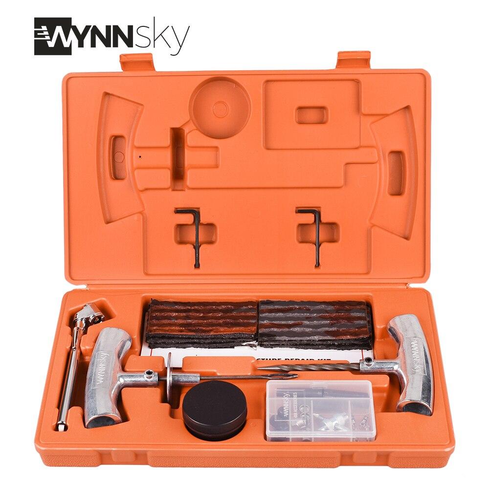WYNNsky 1 Set Heavy Duty Kit di Riparazione Pneumatici Auto Moto Tubeless Tyre Puncture Repair Tool Kit Pneumatico Della Ruota Del Veicolo Rammendo set