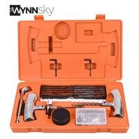 WYNNsky 1 Set Heavy Duty Tire Repair Kit Car Motorcycle Tubeless Tyre Puncture Repair Tool Kit Vehicle Wheel Tire Mending Sets