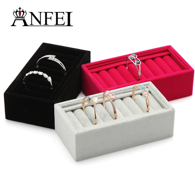 ANFEI Wholesale 6 Style Bracelet Display Cases Stud Bracelet Box