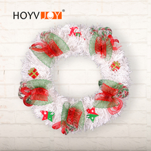 HOYVJOY White Wreaths christmas decorations for home Bow-knot Deer Star Decor Garlands 30cm Big Wreath