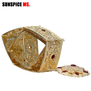 Image 5 - Sunspicems Moroccan Belt Caftan Jewelry for Women Gold Color Red Green Crystal Belly Chain