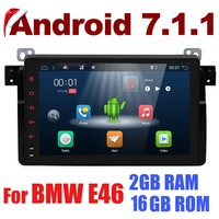 Android 7.1 Car Stereo For BMW E46 car multimedia android Radio Stereo GPS Navigation Quad Core Bluetooth WIFI Radio