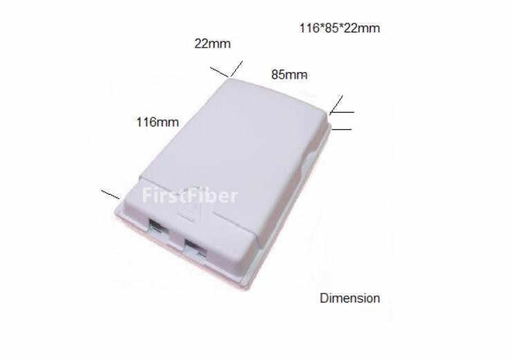 Presa in fibra di ODN FTTH 2 core Scatola di Terminazione in fibra 2 porte in fibra cavo/connettore box di Protezione 2 canali Splitter box