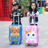 Letrend 3D Cartoon Rolling Luggage Spinner Children Wheel Suitcases Kids Cute Trolley Travel Bag Student Carry On School Bags