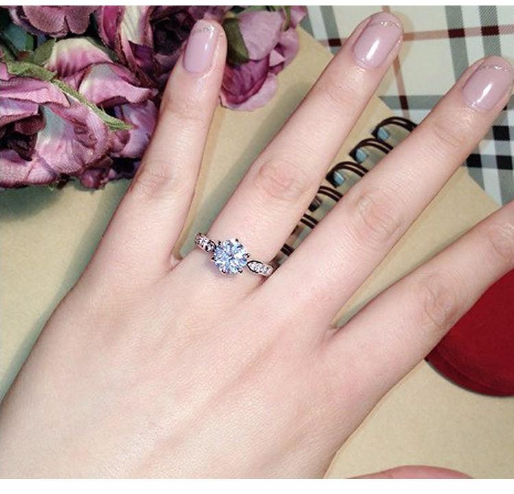 Premium crystal jewellery engagement ring