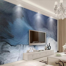 3D wallpaper simple fresh dynamic line TV background wall professional custom mural photo