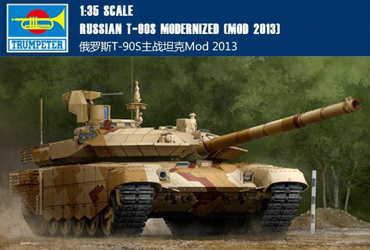 Trompette 09524 1:35 T-90S russe char de bataille principal Mod 2013 modèle d'assemblage