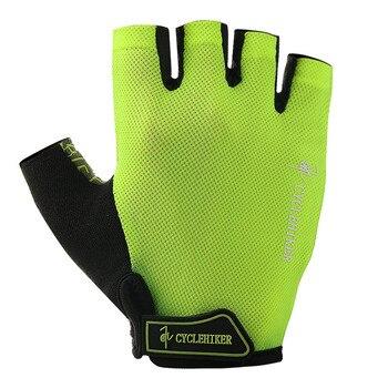 Guantes de ciclismo fluorescentes para hombre y mujer, color verde y negro,...