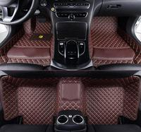 For Mercedes Benz G350 disel 2017 PU Leather Special Car Floor Mats Custom Accessories Car Styling Carpet Cover