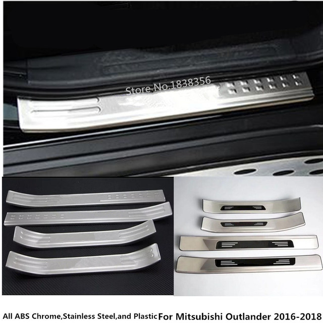for mitsubishi outlander 2016 2017 2018 stainless steel pedal door