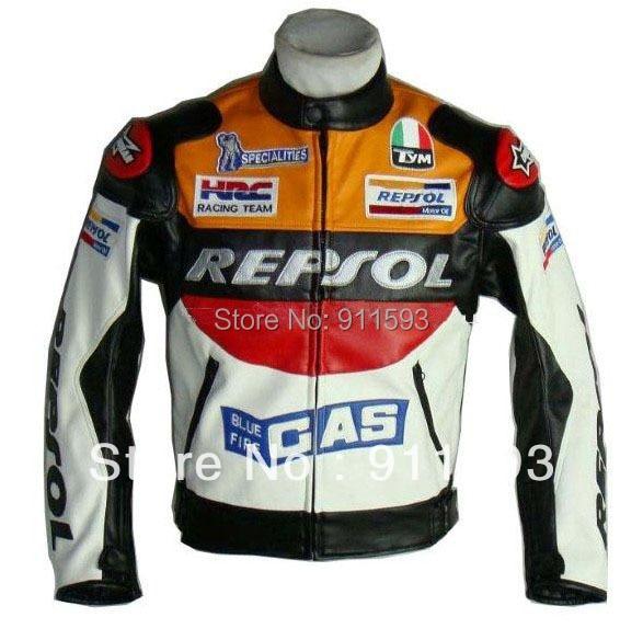 ДУХАН Мото GP мотоцикл компании Repsol гонки кожаная куртка VS02 оранжевый синий М L ХL ХХL Размер 3XL хорошая кожа PU высокого качества быстро