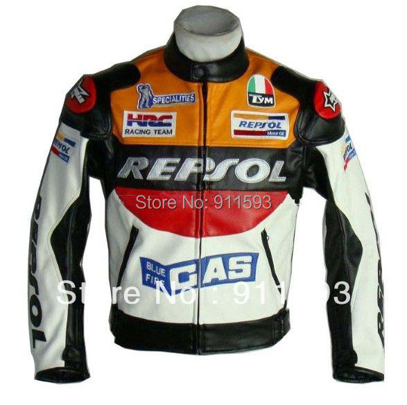 Moto GP motorcycle REPSOL Racing Leather Jacket size XL 2XL 3XL orange BLUE have other size sold out waiting new one arrive смартфон highscreen fest xl pro blue