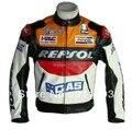 Moto moto gp repsol racing chaqueta de cuero de tamaño s a la xxl