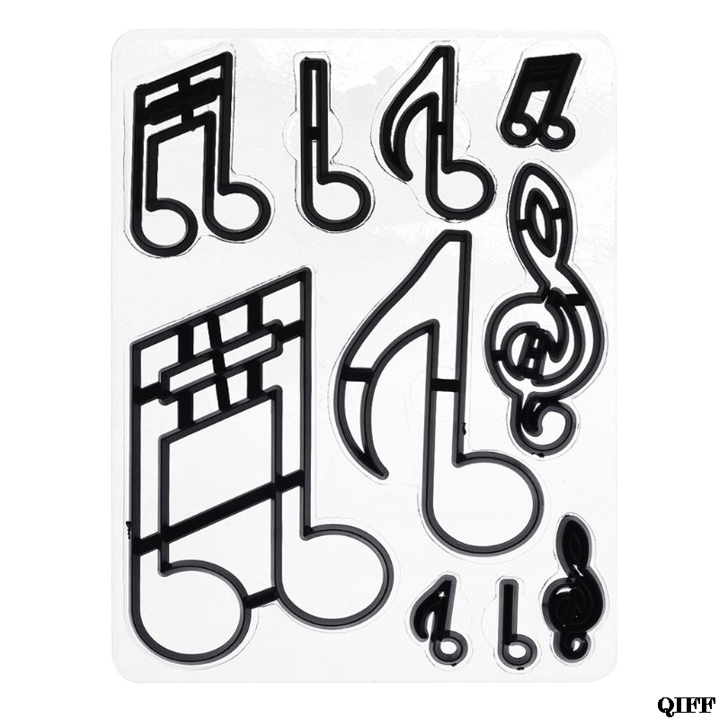 10PCS/SET Extra Large Music Notes Cookie Cutter Plastic Sugarcraft Fondant Cutter Mold Cake Decorating Tools Baking Mold JUN0610PCS/SET Extra Large Music Notes Cookie Cutter Plastic Sugarcraft Fondant Cutter Mold Cake Decorating Tools Baking Mold JUN06