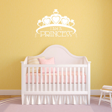 Big Crown Kids Girls Baby Room Decoration Princess Wall Sticker Heart Shape Mural Beauty Home Decor Fashion W243