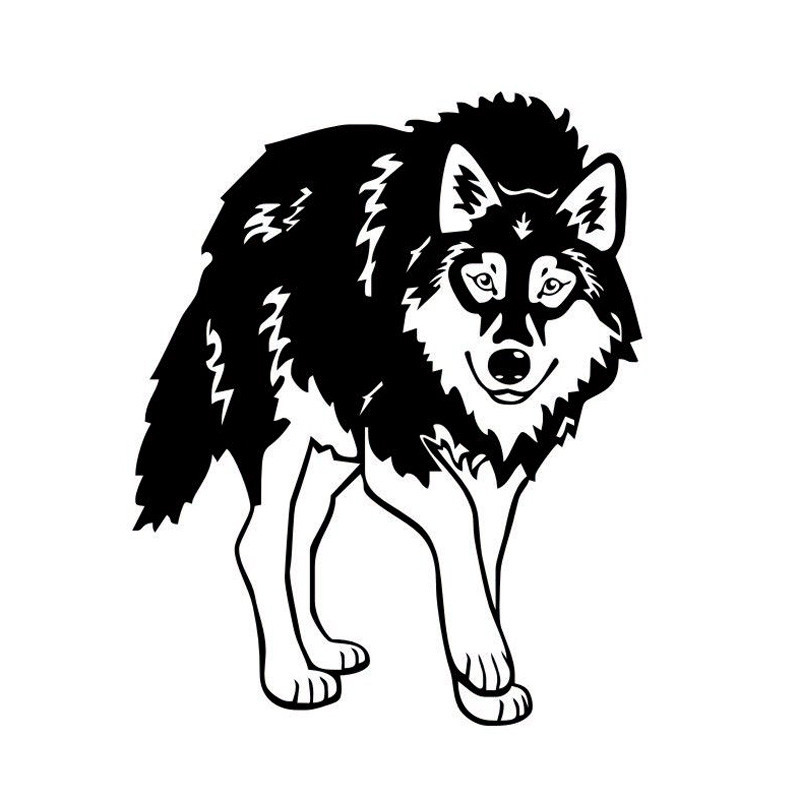 The 2nd Half Price Horrible Wolf Car Stickers Motorcycles