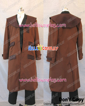 Fullmetal Alchemist Cosplay Edward Elric Brown Trench Coat Costume H008