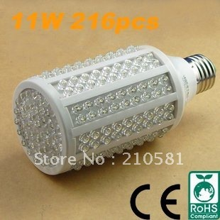 Free Shipping,Wholesale,10W, E27 LED corn bulb light ,warm white,pure white, 216pcs LEDs,high quqlity,warranty 12 Months