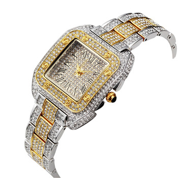 Women's Gold and Silver Plated Roman Numeral Watch