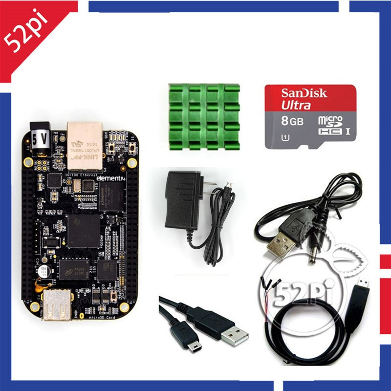 Element 14 Beaglebone Black Rev C 4 GB 512 MB AM335x Cortex-A8 Single Board