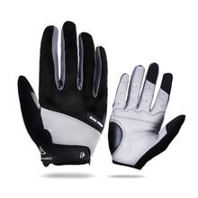 Arbot Full Finger Men Women Cycling Gloves Screen Bike Bicycle Sport Shockproof Outdoor Luvas bisiklet Black