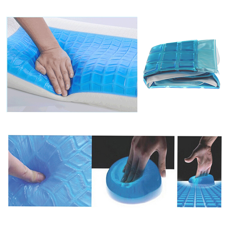 gel ice pillow cooling inflatable sleeping Bedding pillow office nap car lumbar support chair back pillow cushion ice pad mat in Decorative Pillows from Home Garden