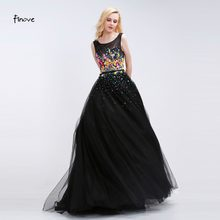 8a8102c3f89 Women Long Black Prom Dress 2018 Sexy Tank Sleeveless Lace Tulle Appliques Party  Gown Formal Evening Dress Vestido De Festa