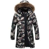 New men s winter warm down coat thicken camouflage down jacket outwear men 90 white duck.jpg 200x200