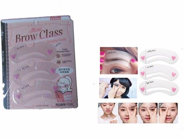 Pas Cher 3 Pcs Pack Eye Brow Classe Dessin Guide Sourcils Pochoir Modle De Carte