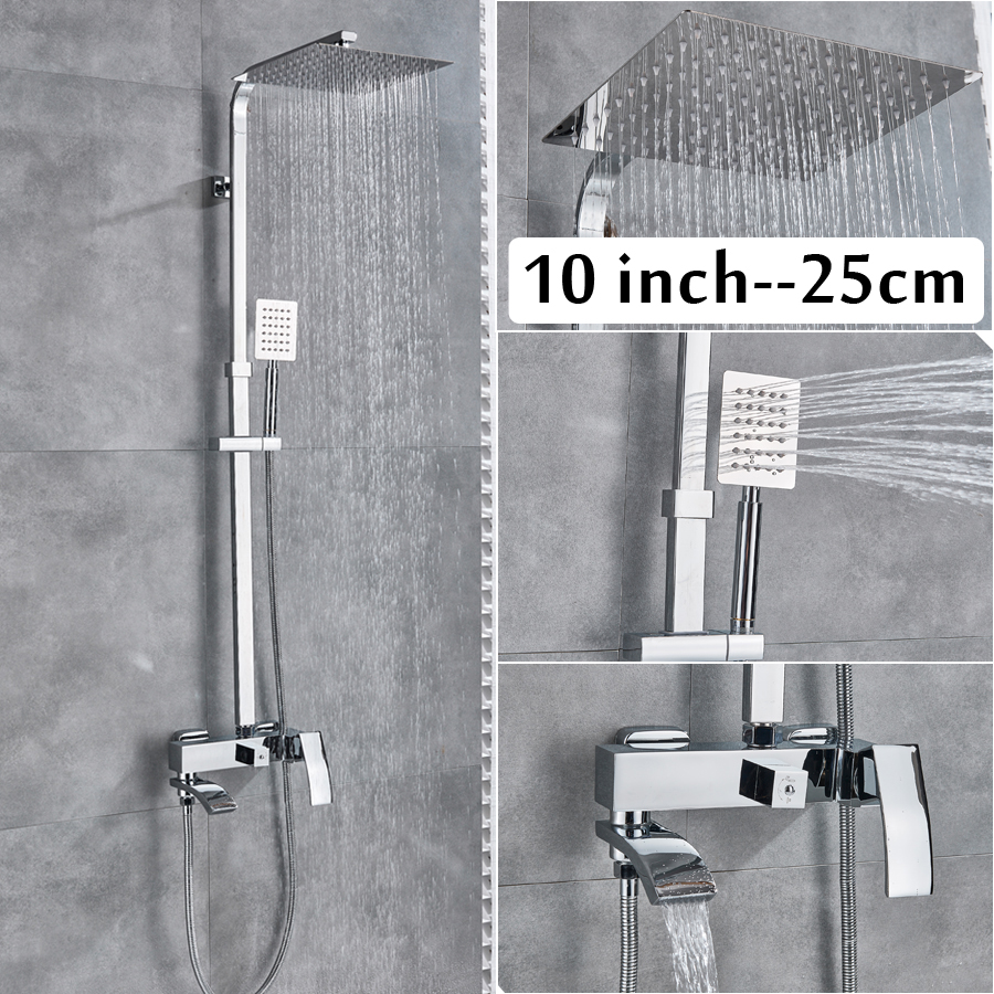 Detail Feedback Questions About Chrome Bath Shower System Wall