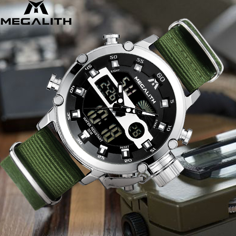 MEGALITH Watches Men Sport Casual Luminou Waterproof Men Water Top Brand Luxury Date Analog Quartz Watch Clock Relogio MasculinoMEGALITH Watches Men Sport Casual Luminou Waterproof Men Water Top Brand Luxury Date Analog Quartz Watch Clock Relogio Masculino