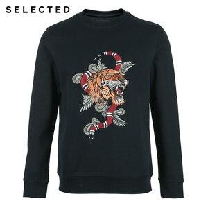 Image 5 - Мужская хлопковая толстовка с вышивкой, новая одежда с круглым вырезом, пуловер с длинными рукавами, толстовки S