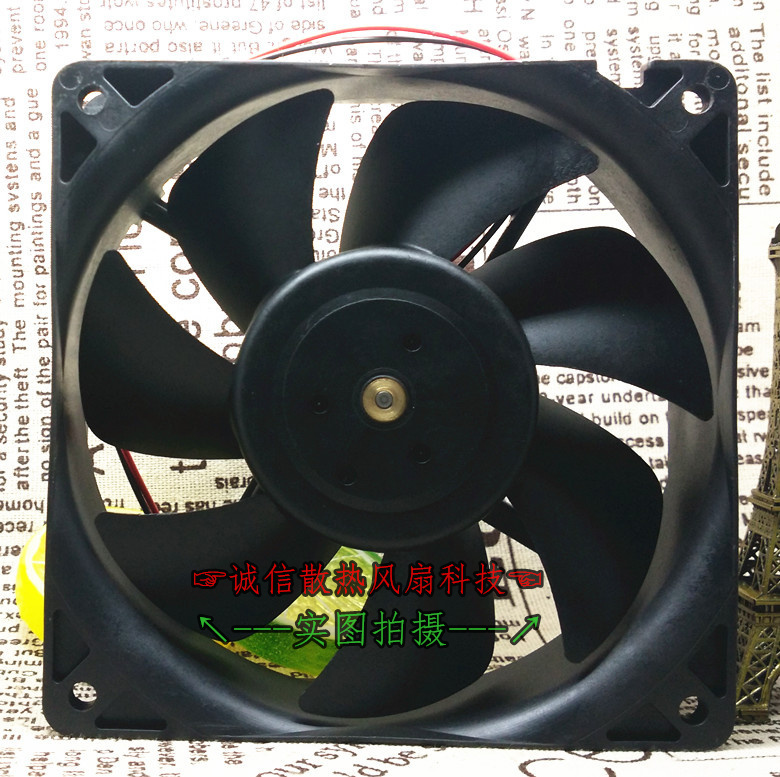 Original Authentic Nidec D12E-24PH 05 12cm 120*120*38mm DC 24V 0.27A 2 Wire Inverter Cooling Fan